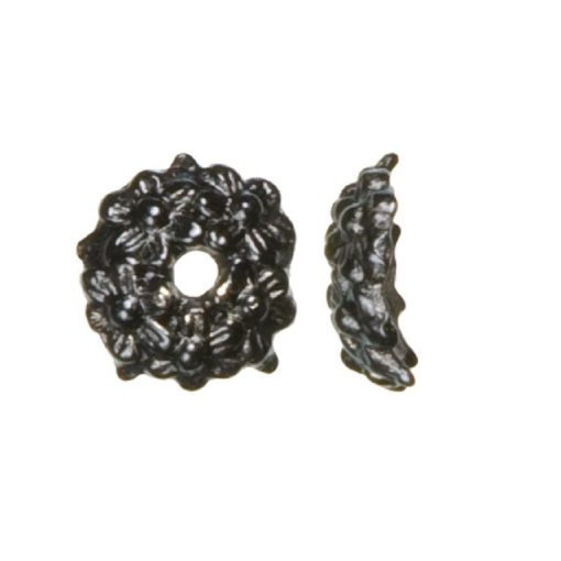 Jewellery Basics – Bead Caps, Black (18 pieces)