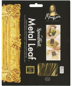 Mona Lisa Metal Leaf – Gold (25 leaves)