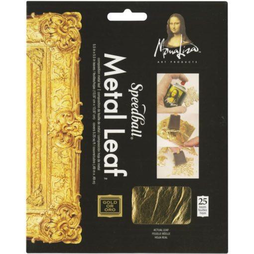 Mona Lisa Metal Leaf – Gold (25 leaves)