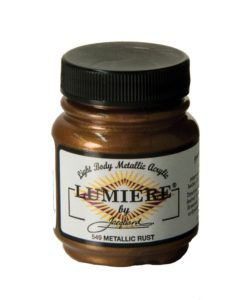 Jacquard Lumiere Acrylic Paint (70ml) - Metallic Rust