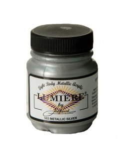 Jacquard Lumiere Acrylic Paint (70ml) - Metallic Silver