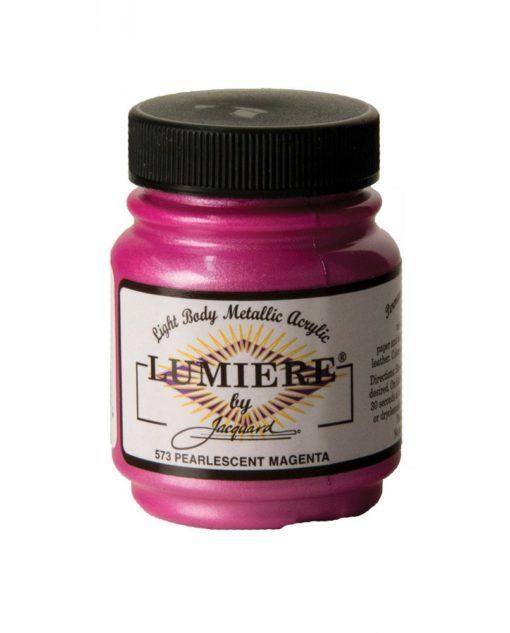 Jacquard Lumiere Acrylic Paint (70ml) - Pearlescent Magenta
