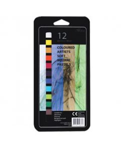 Artists Pastels, 12 colours, each 65 x 10 mm