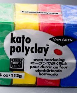 Kato Polyclay Sample Set - 4 Primary Colours