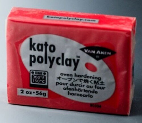 Kato Polyclay 56g -  Red