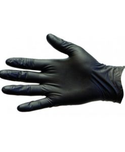 Black Nitrile Disposable Gloves, Powder & Latex Free (Size L)