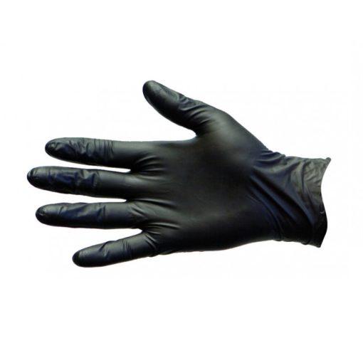 Black Nitrile Disposable Gloves, Powder & Latex Free (Size L)