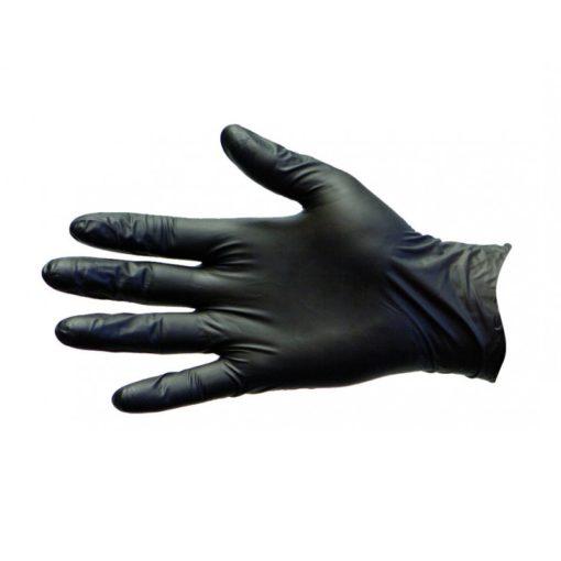 Black Nitrile Disposable Gloves, Powder & Latex Free (Size M)