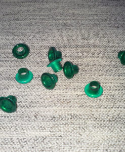 "Pandora Style Bead Inserts - Electric Green 4.82mm (3/16"")"