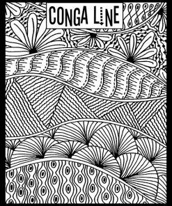 Helen Breil Texture Stamp - Conga Line
