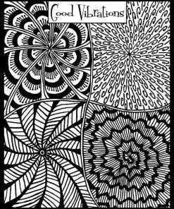 Helen Breil Texture Stamp - Good Vibrations