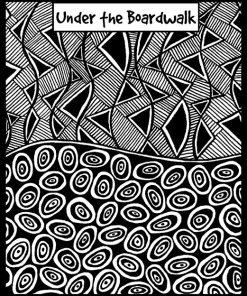 Helen Breil Texture Stamp - Under the Boardwalk
