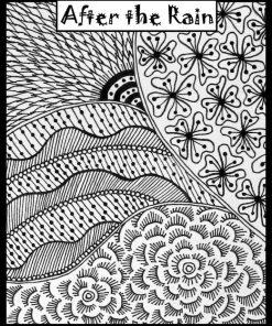 Helen Breil Texture Stamp - Aftrer the Rain