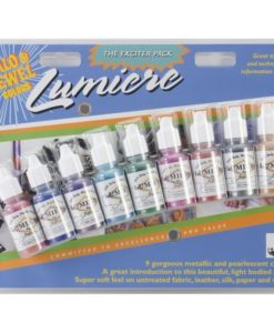 Jacquard Lumiere Exciter Pack, Acrylic Paint – 9 metallics and pearlescent colours