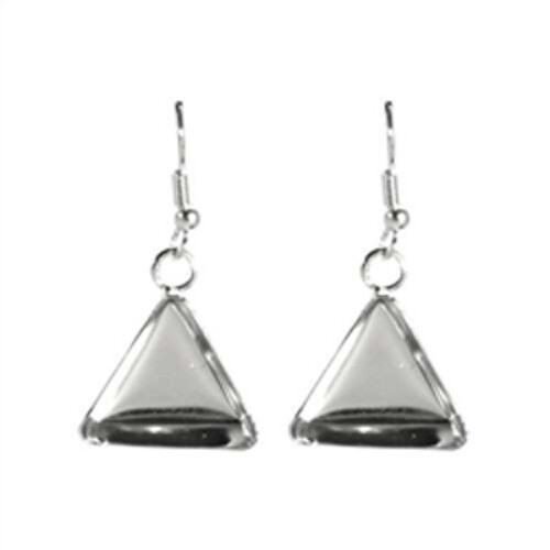 Lisa Pavelka Silver Earrings - Triangle