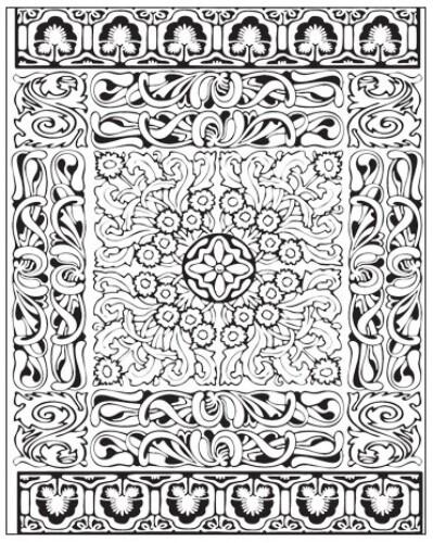 Lisa Pavelka Texture Stamp - Persian Carpet