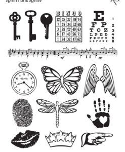 Lisa Pavelka Texture Stamp - Wings and Things