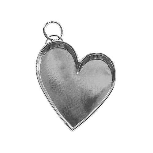 Lisa Pavelka Silver Bezel - Leaning Heart