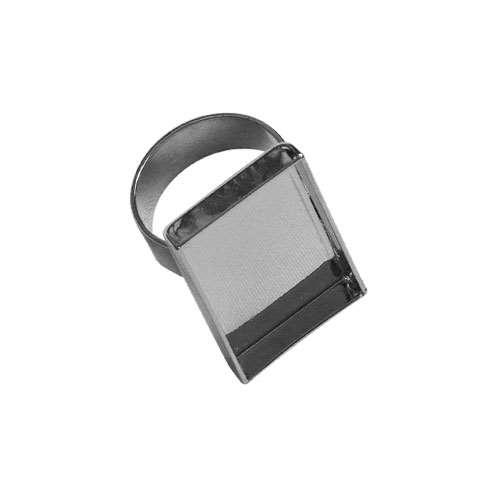 Lisa Pavelka Silver Ring Bezel - Rectangle
