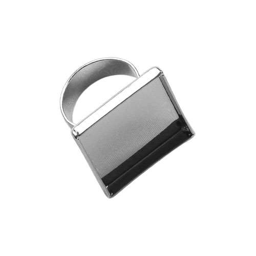 Lisa Pavelka Silver Ring Bezel - Square