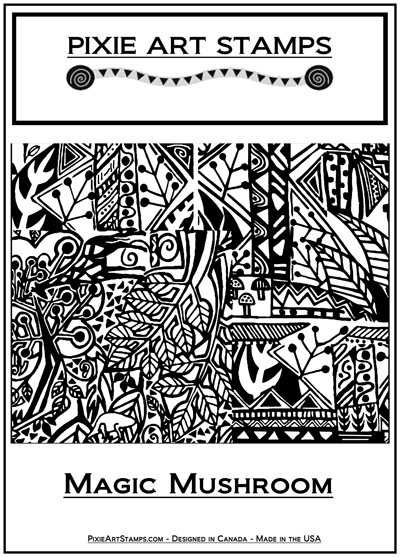 Pixie Art Stamp - Magic Mushroom