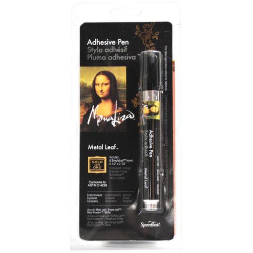 Mona Lisa Metal Leaf Adhesive Pen with Gold Leaf