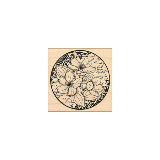 Mounted Rubber Stamp - Flower Poetry