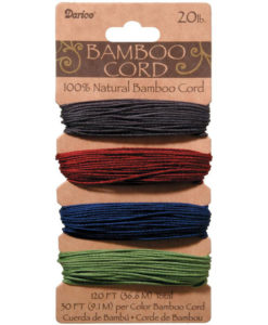 Bamboo Cord - Jewel Tones 1mm x 36.6m