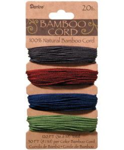 Bamboo Cord - Jewel Tones 1mm x 36.6m