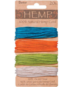 Hemp Cord - Brights 1mm x 36.6m