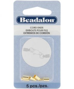 Beadalon Cord Ends - Gold Plate 5/Pkg