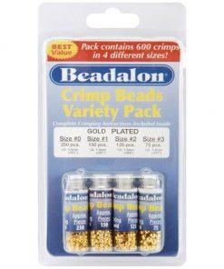 Beadalon Gold Crimp Bead Variety Pack