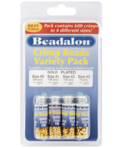 Beadalon Gold Crimp Bead Variety Pack