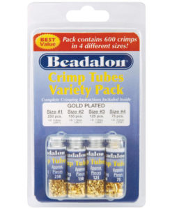 Beadalon Gold Crimp Tube Variety Pack
