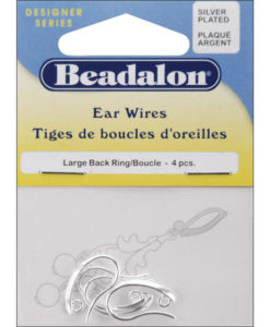 Beadalon Earrings - Large Silver Back Loop