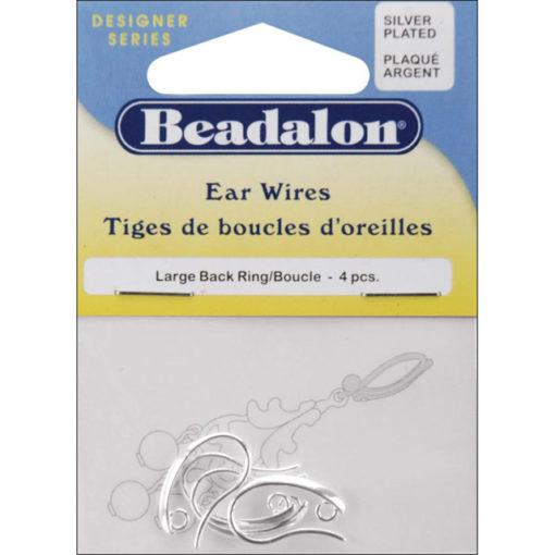 Beadalon Earrings - Large Silver Back Loop