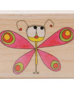 Mounted Rubber Stamp - Flutterfly