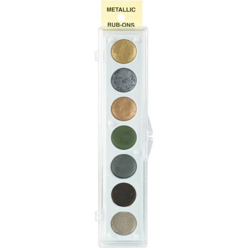 KIT #2   Metallic Rub-On Paint Set - 7 Colors