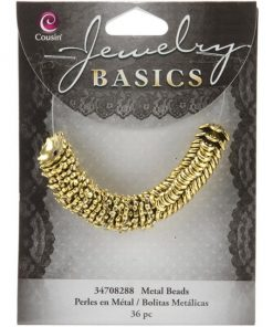 Jewellery Basics - Bead Caps, 2 Styles in Gold (36 pieces)