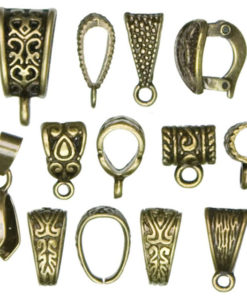 Jewellery Basics - Mixed Bails, Antique Gold (13 pieces)