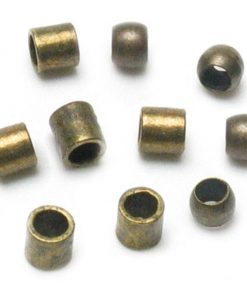 Jewellery Basics - Crimp Tubes and Crimp Beads, 2mm, Antique Gold