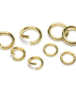 Jewellery Basics - Open jump ring mix, antique gold - 4mm to 6mm (400 pieces)