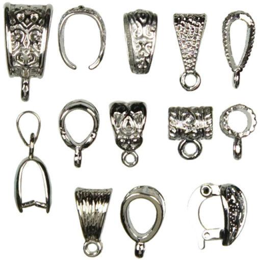 Jewellery Basics - Mixed Bails, Silver