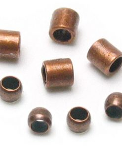 Jewellery Basics - Crimp Tubes and Crimp Beads, 2mm, Copper