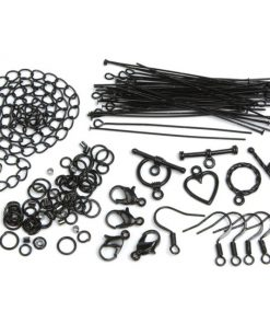 Jewellery Basics - Mixed Findings Starter Pack - Black (145 Pieces)