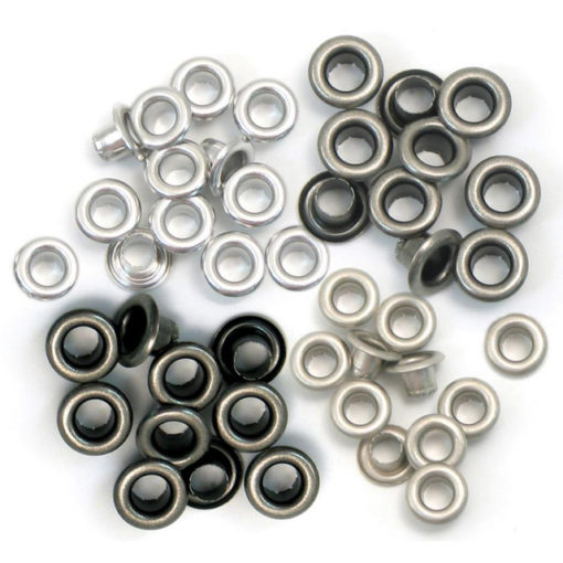 Standard Cool Metal Eyelets, 4 Colours - 60 pcs