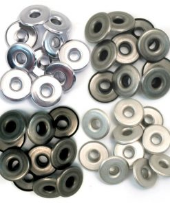 Wide Cool Metal Eyelets, 4 Colours - 40 pcs
