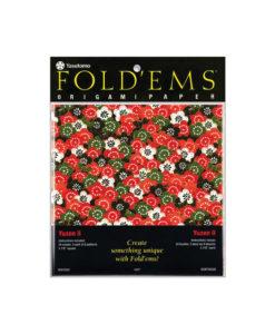 Yatsutomo Fold'ems Origami Paper - Yuzen II