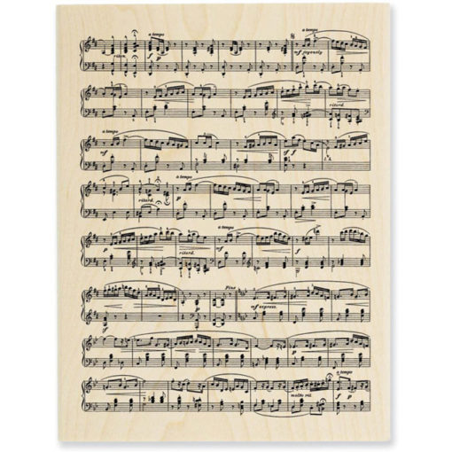 Mounted Rubber Stamp - Music Score