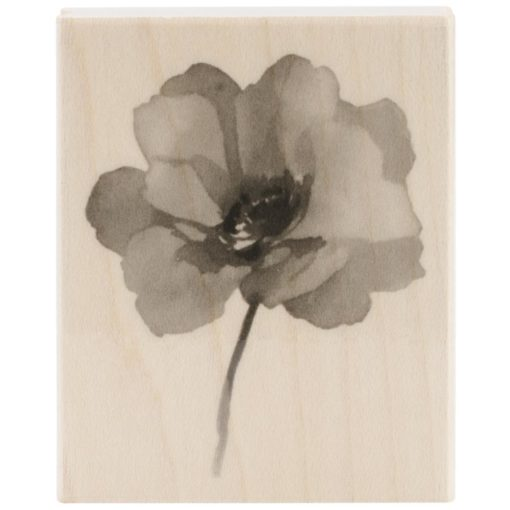 Mounted Rubber Stamp – Painted Poppy